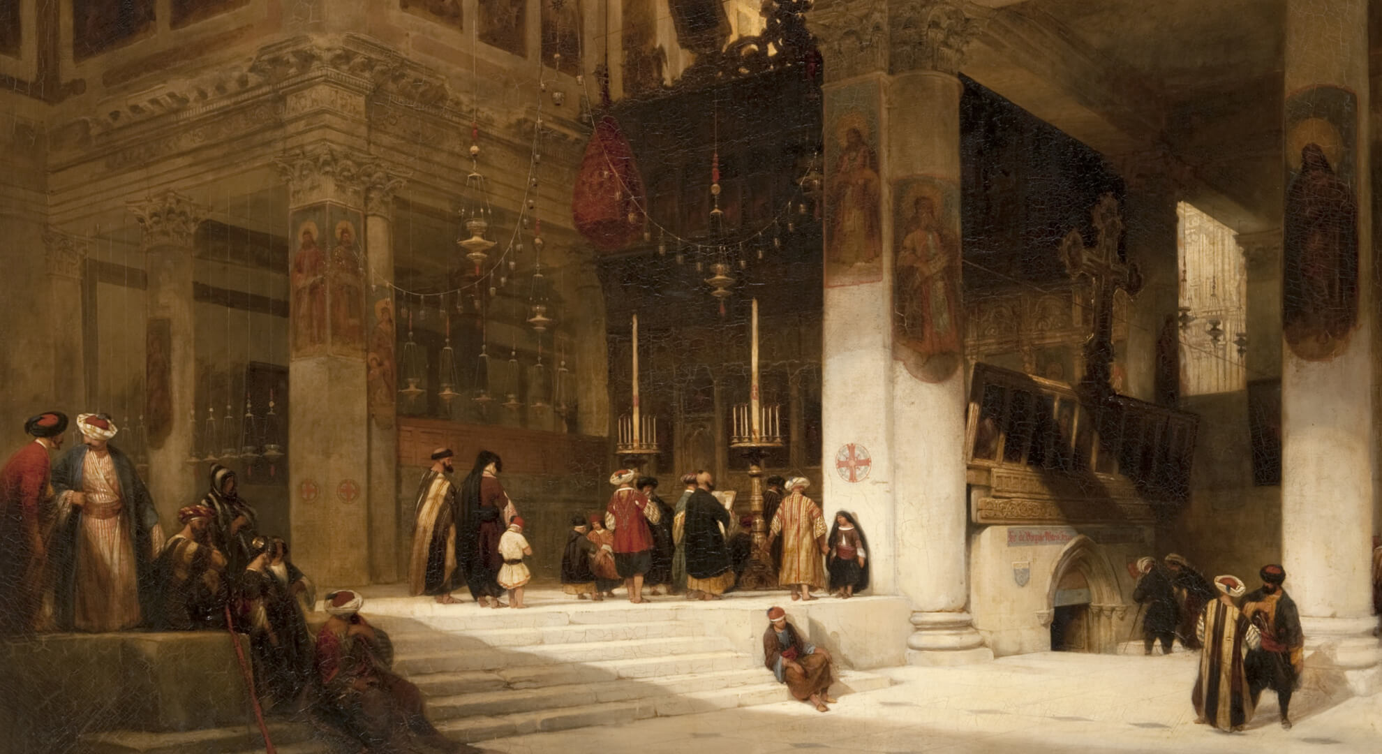 David Roberts (1796 – 1864), Church of the Nativity, circa mid 19th century, Oil on Canvas, Height 112 cm x Width 142 cm, Paisley Museum and Art Gallery