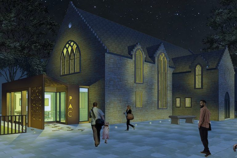 Artistic Drawing of the Refurbished Arts Centre