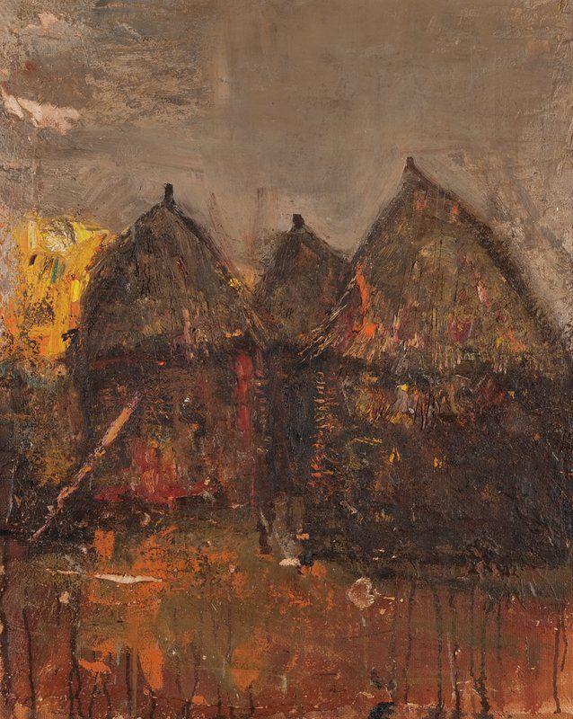 Joan Eardley (1921-1963), Winter Stacks, oil on canvas