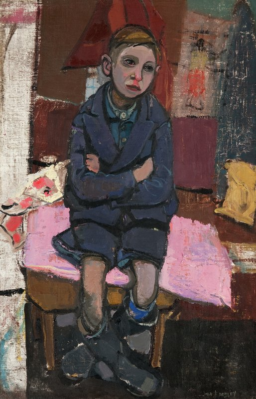 Joan Eardley (1921-1963) , Boy on Stool, oil on canvas