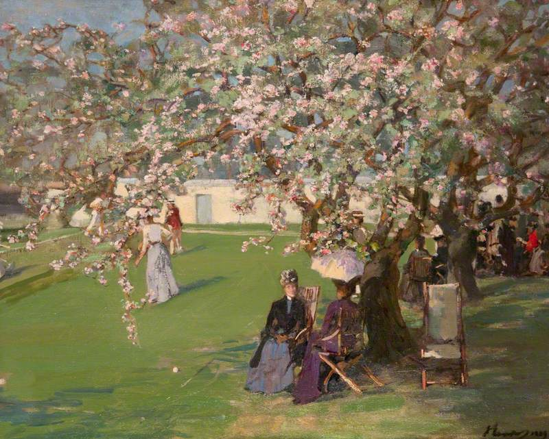 Courts of Paisley Lawn Tennis Club, by Lavery