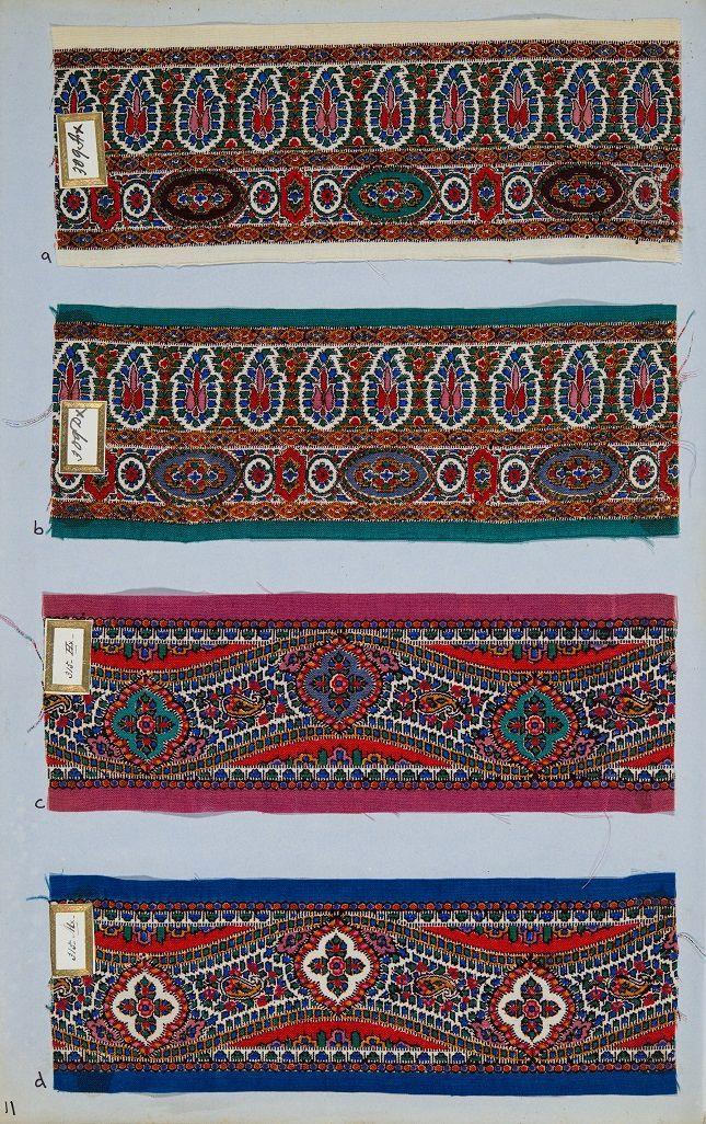Printed examples of Shawl Borders